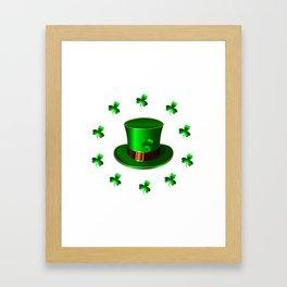 St. Patricks Day. Green hat Framed Art Print