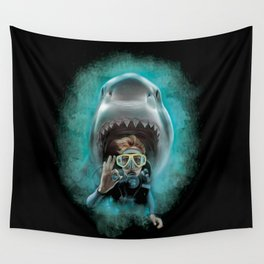 Shark! Wall Tapestry