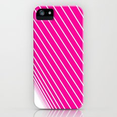 pink & white stripes Slim Case iPhone (5, 5s)