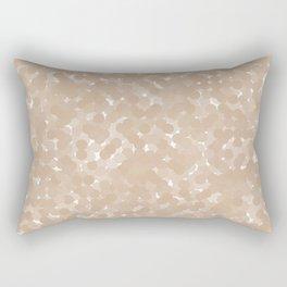 Hazelnut Polka Dot Bubbles Rectangular Pillow