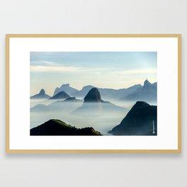 Rio Skyline Framed Art Print