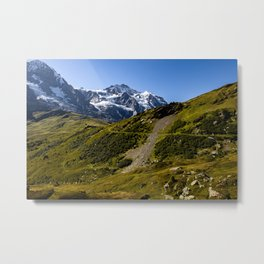 Swiss alps in the Bern-Oberland near Grindelwald Metal Print