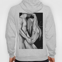 Ephemeral Love b&w Hoody