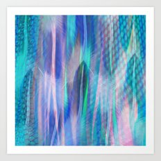 Feathers and Tulle Art Print
