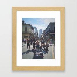 French Quarter Buskin' Framed Art Print
