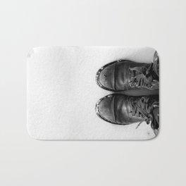 Shoes in Snow Bath Mat