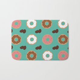 Coffee Beans and Donuts Bath Mat