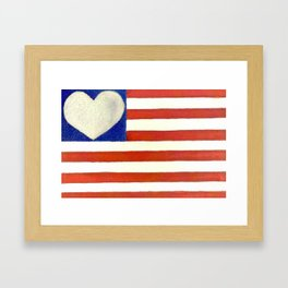 Heart Flag Framed Art Print