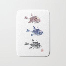 Three trigger fish Bath Mat