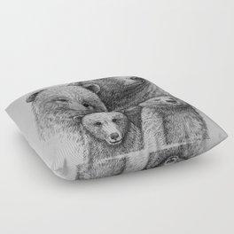 Family photo (mr. Bear) Floor Pillow