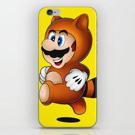 Super Mario Tanooki Suit iPhone Skin