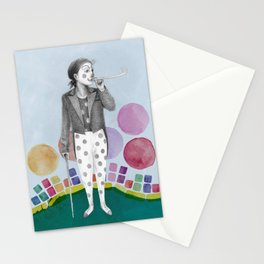 clown and lots of dots Stationery Cards