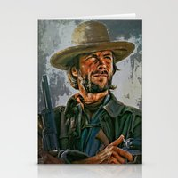 clint eastwood Stationery Cards featuring  Clint Eastwood by andy551