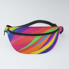 Wonky Rainbow Stripes Fanny Pack