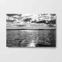 Metallic Waters Metal Print