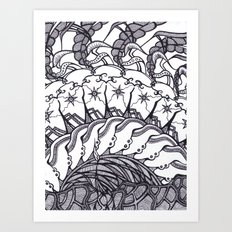 Cinnamon Bun Sun Art Print