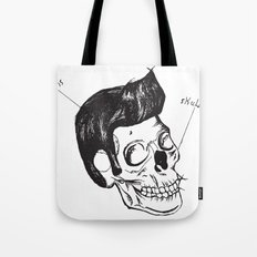 Elvis Skull Tote Bag
