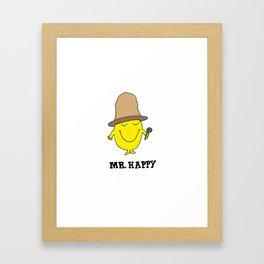 Mr. Happy Framed Art Print