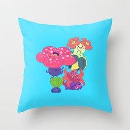 Odd Family Throw Pillow