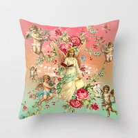 romantic Throw Pillows featuring romantic by mark ashkenazi
