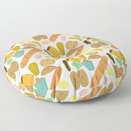 Patisseries de France French Pastries and Breads Floor Pillow