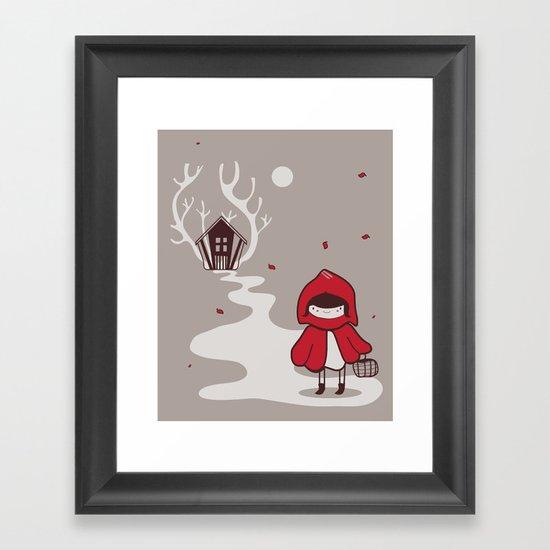 Little red Framed Art Print