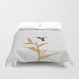 Hummingbird & Flower II Duvet Cover