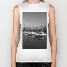Boats At Fishermans Wharf San Francisco Biker Tank