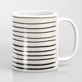 Black Horizontal Lines Coffee Mug