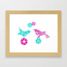 Greeting in Birdsong Framed Art Print