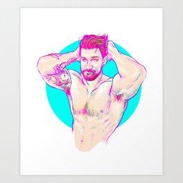 Neon muscle Art Print