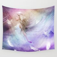 grace Wall Tapestries featuring GRACE by Jay Aheer