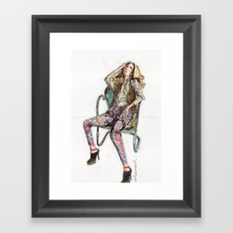 Floral Fashion Framed Art Print