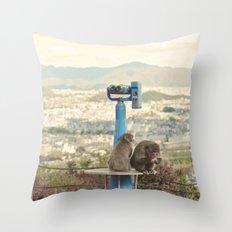 Saruyama Monkeys, Kyoto Throw Pillow