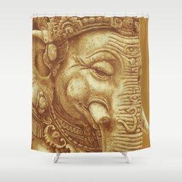 Ganesha orange Shower Curtain