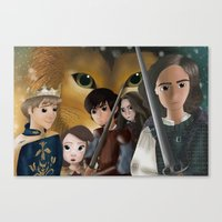narnia Canvas Prints featuring Narnia by BellaG studio