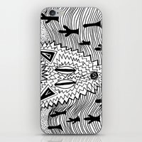 coyote iPhone & iPod Skins featuring Coyote by Catolyn