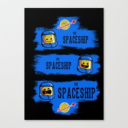 The Good, the Bad and the SPACESHIP! Canvas Print