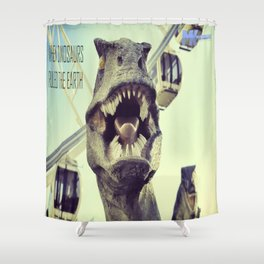 He might bite! Shower Curtain