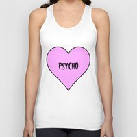 psycho Tank Tops featuring Psycho by fyyff