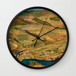 Douro Valley Portugal Wall Clock