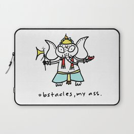obstacles, my ass (ganesha) Laptop Sleeve