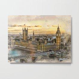 London city art 3 #london #city Metal Print