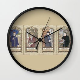 Sherlock Victorian Language of Flowers Four Seasons Wall Clock