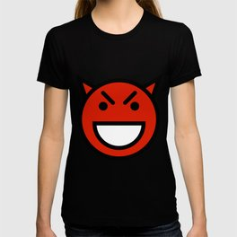 Smiley Face   Laughing Devil Face Red T-shirt