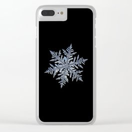 Real snowflake - Silverware black Clear iPhone Case