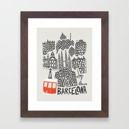 Barcelona Cityscape Framed Art Print