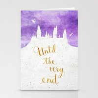 dumbledore Stationery Cards featuring Until the very end by Earthlightened