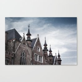 Faded Memories: Bruges Canvas Print