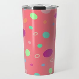 Dots on pink Travel Mug